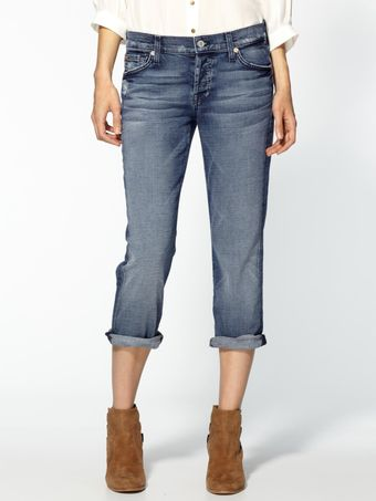 7 For All Mankind Crop Josefina Jeans - Lyst