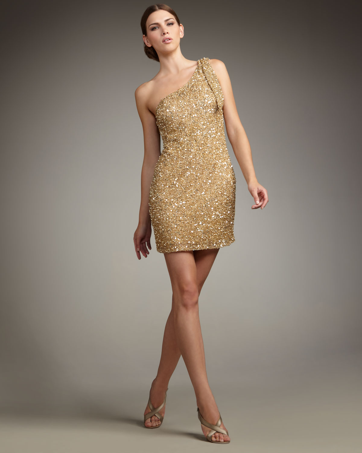 Aidan Mattox Sequin One Shoulder Dress | But Dress