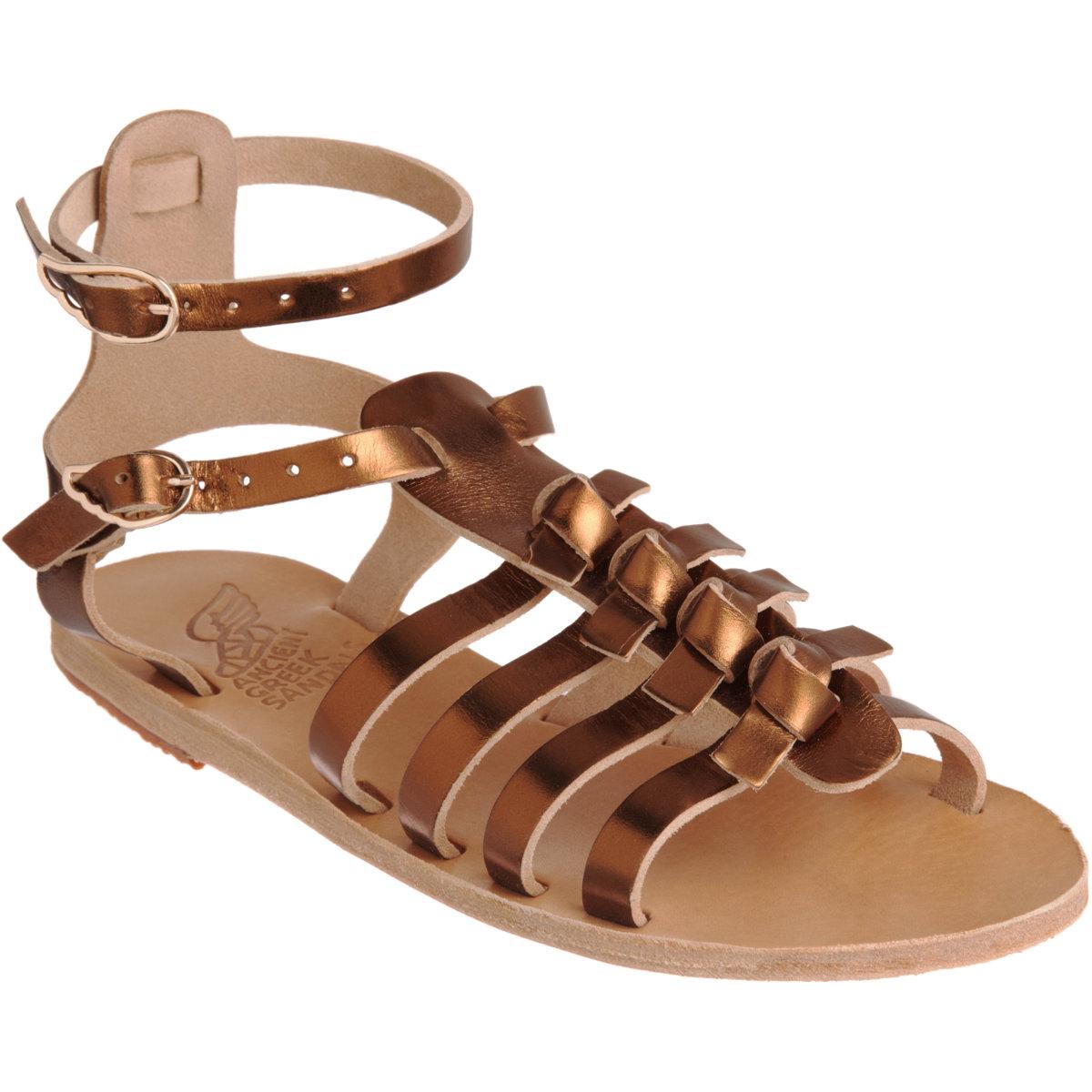 Ancient Greek Sandals Artemis in Gold (bronze)   Lyst