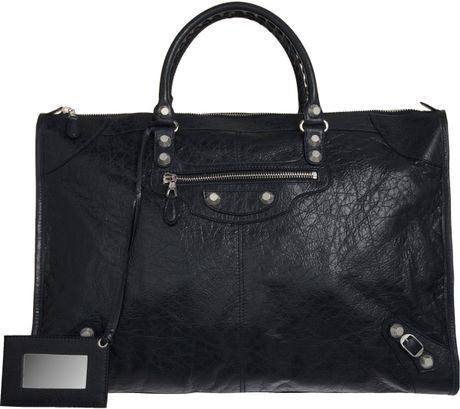 Balenciaga Arena Giant 12 Nickel Weekender in Black (nickel) - Lyst