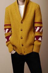 Burberry Brit Fair Isle Wool Cardigan - Lyst