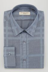 Burberry Check Dress Shirt  - Lyst