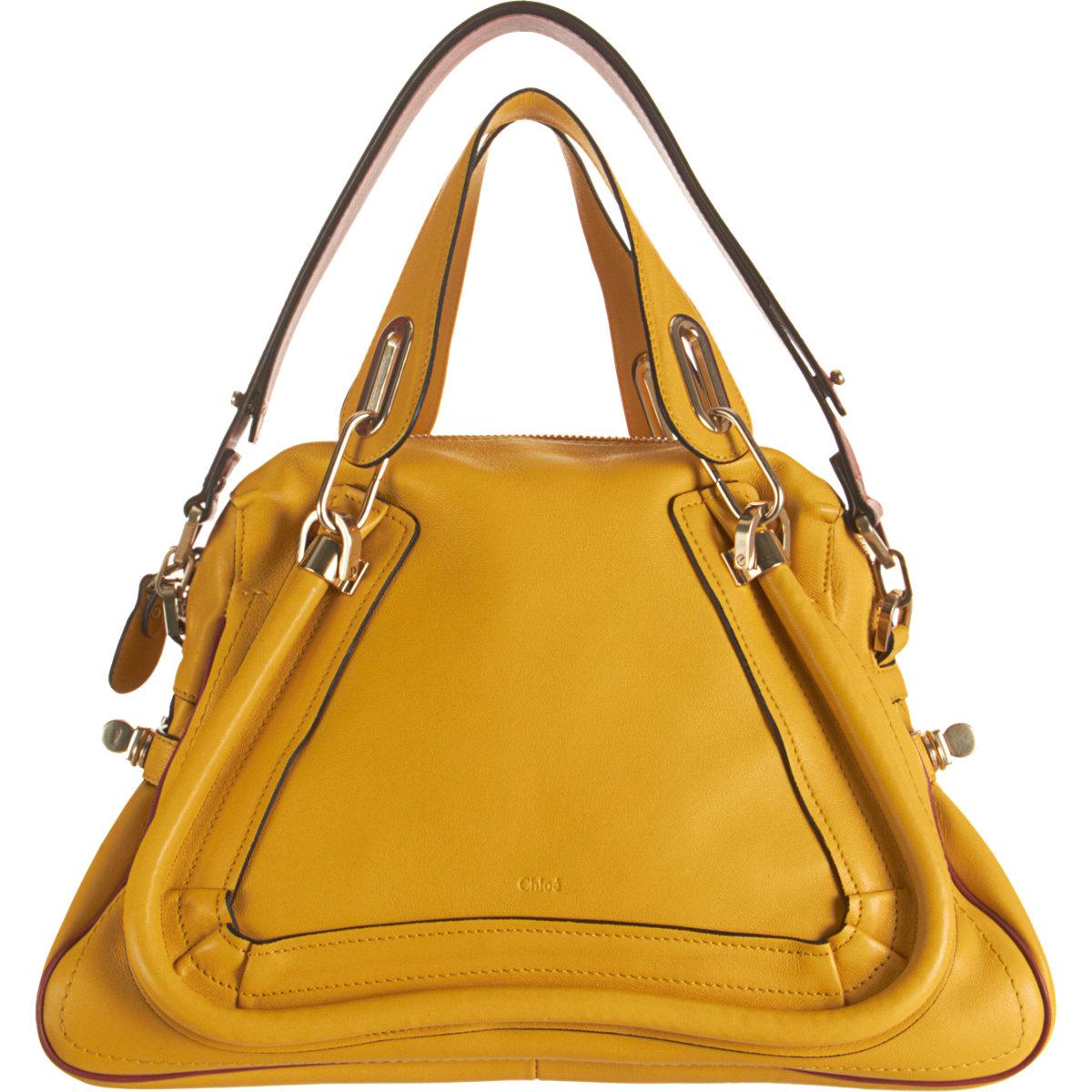 Chlo¨¦ Colorblock Medium Paraty Satchel in Yellow (gold) | Lyst