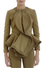 Givenchy Canvas Peplum Jacket - Lyst