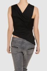 Hussein Chalayan Top in Black - Lyst
