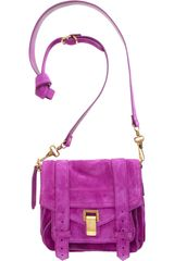 Proenza Schouler Ps1 Pouch Suede in Purple (grape) - Lyst