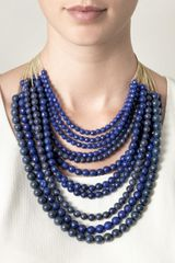 Rosantica Raissa Lapis and Agate Necklace - Lyst