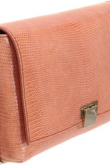 The Row Lizard Metal Frame Clutch in Orange (silver) - Lyst