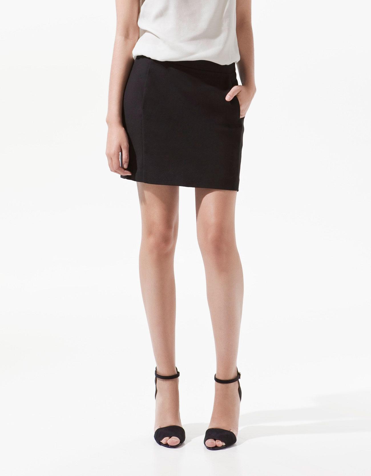 Zara Mini Skirt in Black | Lyst