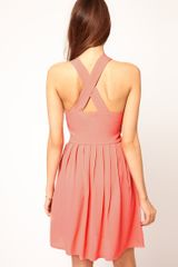 Asos Collection Asos Pinafore Dress in Pink - Lyst