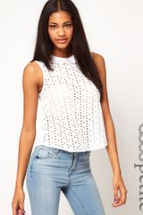 Asos Exclusive Double Collar Lace Blouse