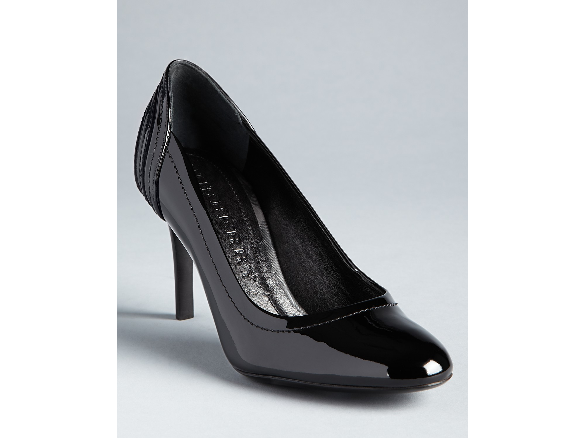 burberry high heel pumps smoked check praver in black lyst