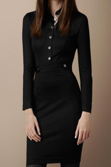 Burberry Brit Structured Wool Blend Dress - Lyst