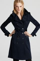 Burberry London Wadefield Double Breasted Silk Trench Coat - Lyst