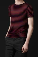Burberry Prorsum Striped Cotton T-shirt - Lyst