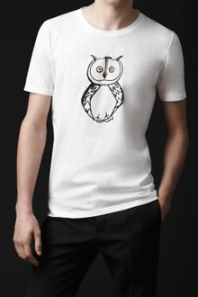 Burberry Prorsum Owl Graphic Cotton T-shirt - Lyst