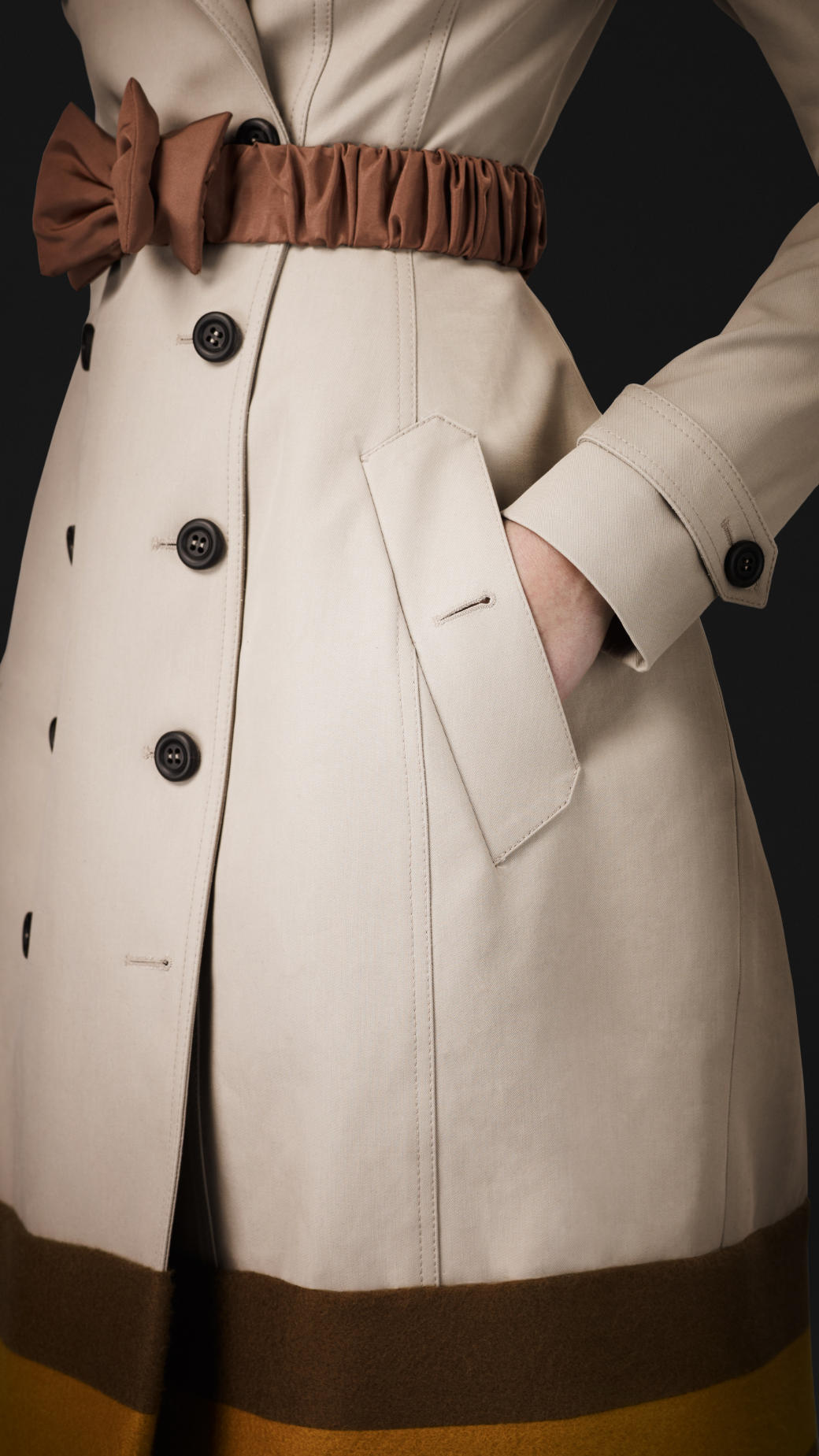 Burberry Prorsum College Stripe Trench Coat In Natural Lyst