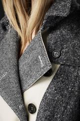 Burberry Prorsum Cotton Tweed Trench Coat in Gray (trench) - Lyst