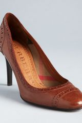Burberry High Heel Pumps Brogue Chantrey - Lyst