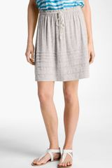 Caslon® Tucked Hem Knit Skirt - Lyst
