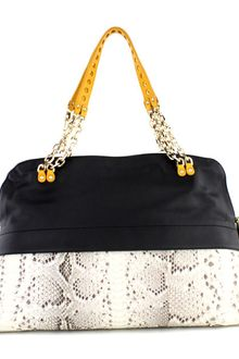 Christian Louboutin Leather and Python Bowling Bag  - Lyst