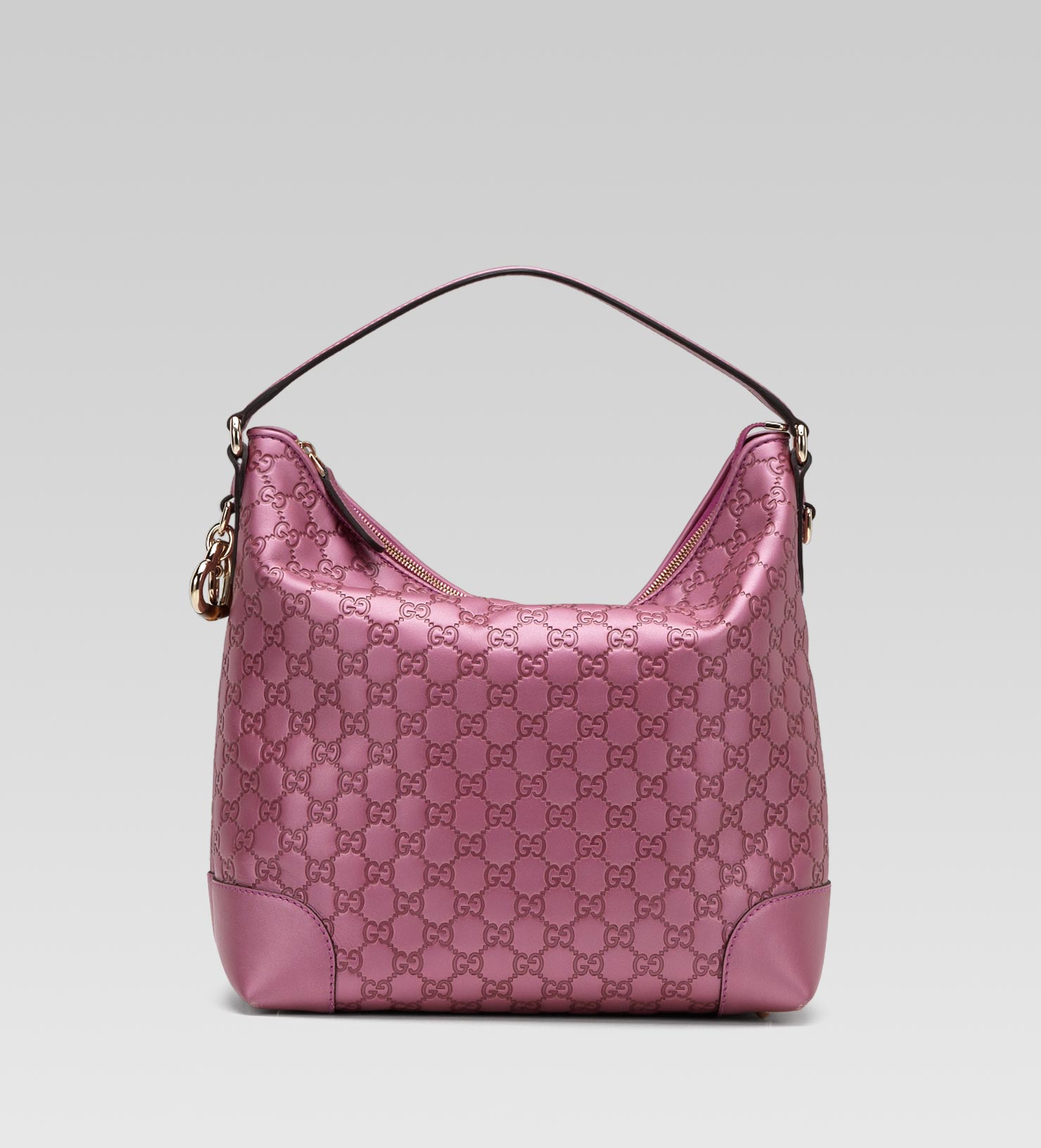 7f5d4dd4b326 Gucci Heart Bit Medium Hobo with Heartshaped Charm Bamboo Detail and ...