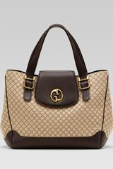 Gucci Gucci Medium Tote With Double G Detail - Lyst