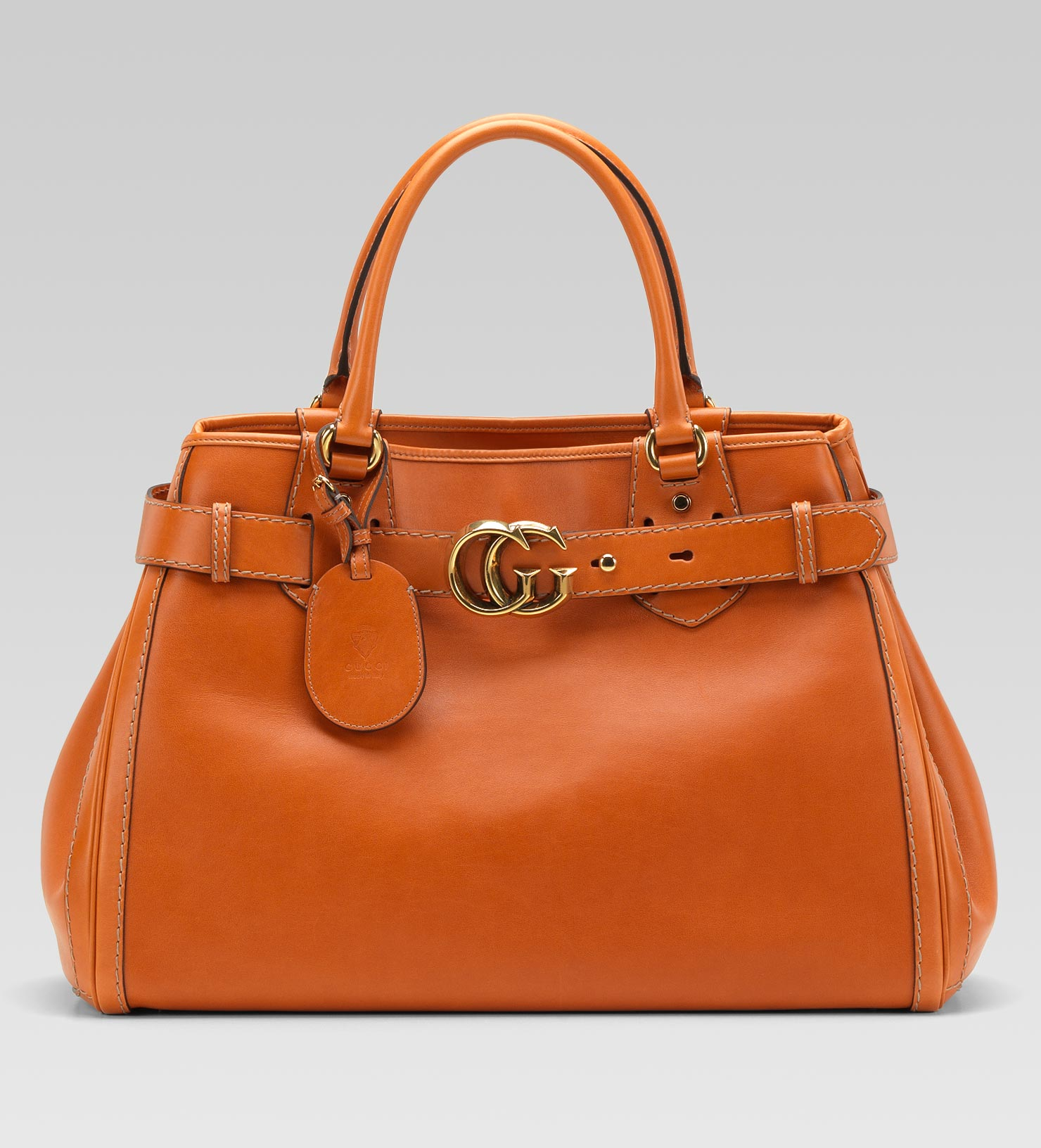 f4762a0b7da Lyst - Gucci Gg Running Large Tote with Double G Detail in Orange