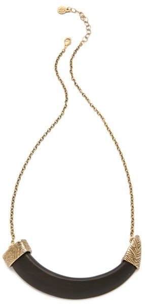 House Of Harlow Horizontal Horn Necklace - Lyst