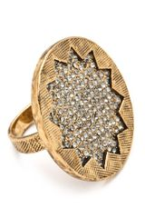 House Of Harlow Medium Sunburst Pave Ring - Lyst