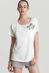Marc By Marc Jacobs Tee Blossom Pocket - Lyst