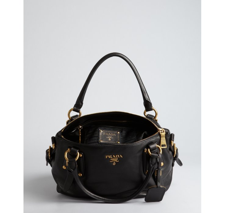 Prada Black Leather Satchel HI4nXlFKvl