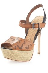 Sam Edelman Magda Platform Sandal in Brown (whiskey) - Lyst