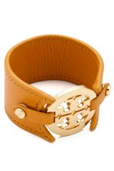 Tory Burch Double Snap Logo Cuff - Lyst