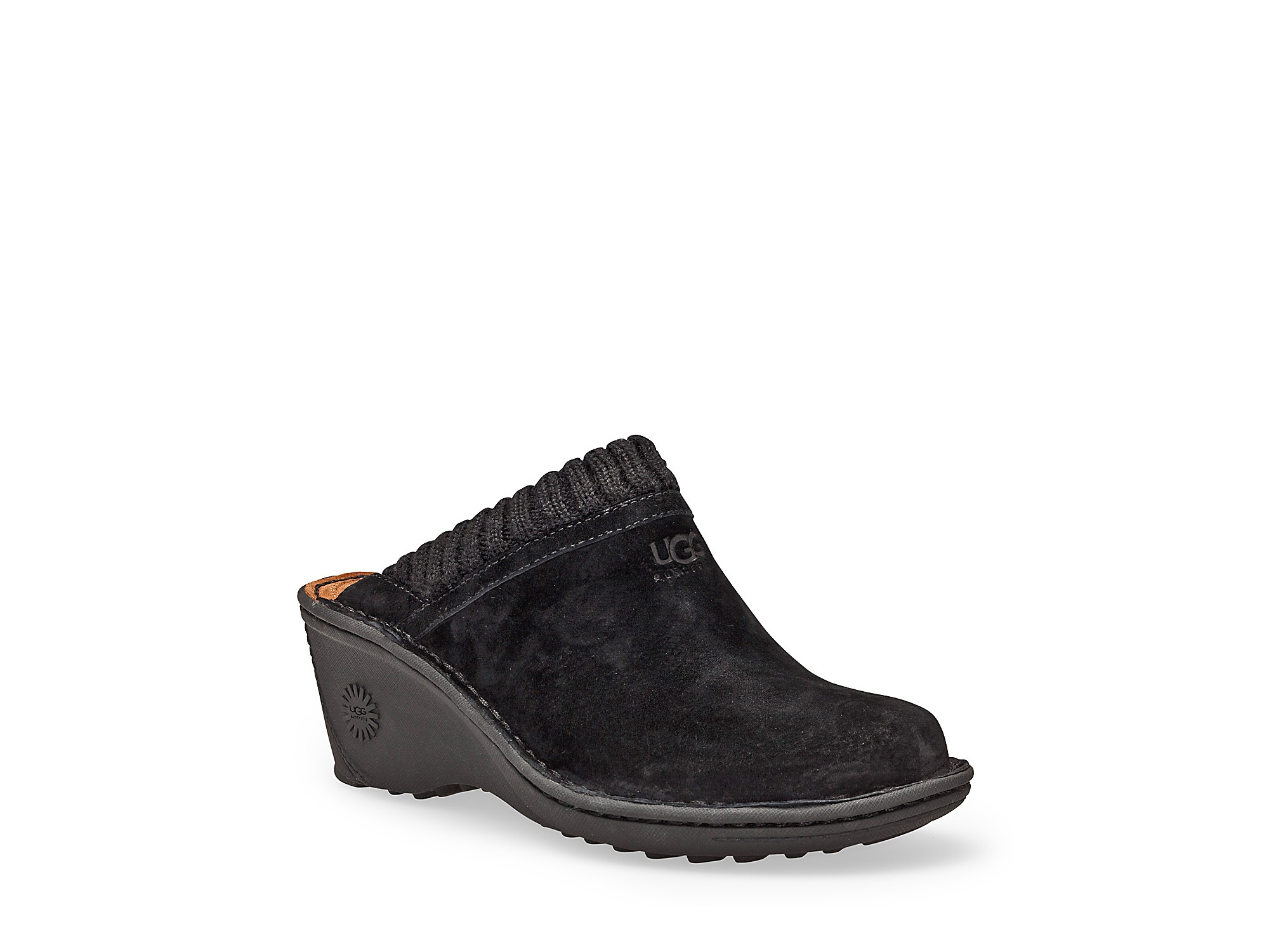 Ugg Gael Clogs With Knit Cuffs In Brown Lyst