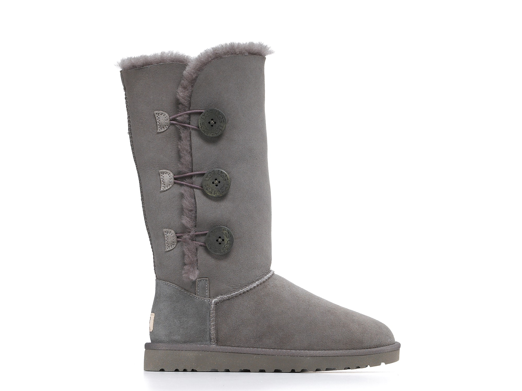 ugg bailey button triplet grey boots