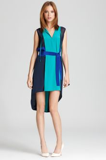BCBGMAXAZRIA Color Block Dress Rylie with Belt Tie - Lyst