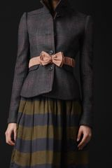 Burberry Prorsum Wool Cashmere Check Riding Jacket - Lyst