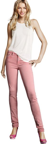 H&m Slim Jeans in Pink (denim) - Lyst