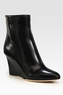 Jimmy Choo Leather Wedge Ankle Boots - Lyst