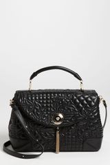 Versace Versace Vanitas Embroidered Nappa Lambskin Leather Satchel - Lyst