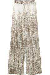 Alice + Olivia Printed Stretch Crepe Wide Leg Pants - Lyst