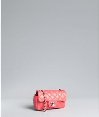 Chanel Salmon Quilted Leather Classic Mini Crossbody Bag - Lyst