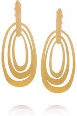 Herve Van Der Straeten 24karat Goldplated Hammered Clip Earrings - Lyst