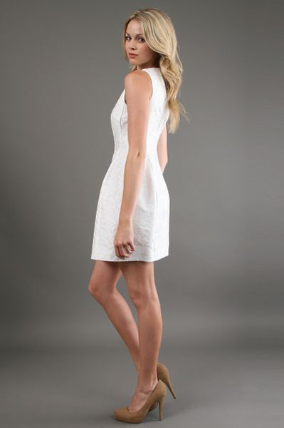 Alexia Admor Fit And Flare Dress In White In White Lyst