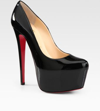 Christian Louboutin Patent Leather Platform Pumps - Lyst
