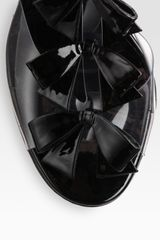 Christian Louboutin Translucent Bow Bow Patent Leather Sandals in Black - Lyst