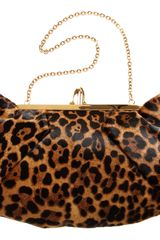 Christian Louboutin Ponyhair Loubis Angel Clutch in Brown (leopard) - Lyst