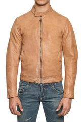 Dolce & Gabbana Distressed Biker Leather Jacket - Lyst