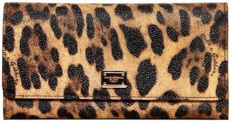 Dolce & Gabbana Leopard Print Pvc Wallet in Animal (leopard)